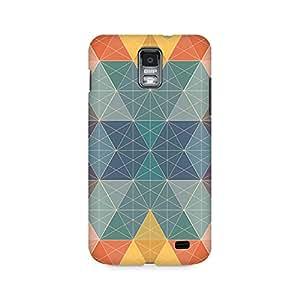 Ebby Pastel Polygon Premium Printed Case For Samsung S2 I9100/9108