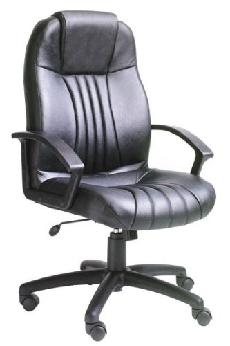 Boss Office Furniture B7641 Modern Executive Office Chair in Leather
