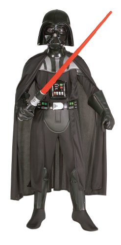 [882014 (8-10) Darth Vader Deluxe Child] (Darth Vader Deluxe Kids Costumes)