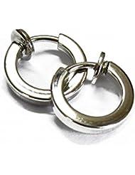 Chandrika Pearls Gems & Jewellers Silver Metal Clip-On Earring For Men & Women