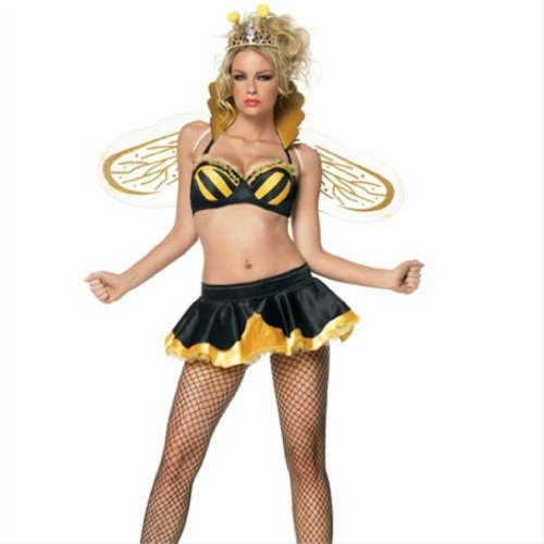 Women's 4PC Queen Bee Sexy Holiday Party Costume