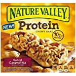 Nature Valley Chewy Protein Bars, Salted Caramel Nut , 7.1oz Box (Pack of 4)