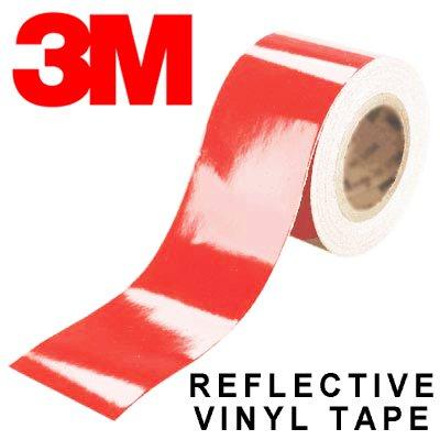 3M Scotchlite Red Reflective Tape (1m x 10mm)