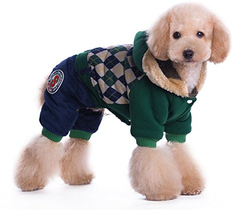 YAAGLE Winter Warm British College Thick Pet Coat Dog Clothes Hoodie Coat Apparel (Chicago Blackhawks Dog Harness compare prices)