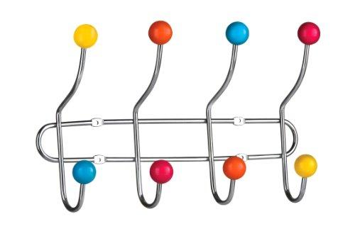 Premier Housewares 0509645 Appendiabiti da Parete, Sfere in Ceramica, 8 Ganci, Multicolore