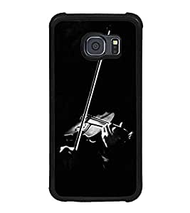 Fuson Premium 2D Back Case Cover Violin With white Background Degined For Samsung Galaxy S6 Edge::Samsung Galaxy Edge G925