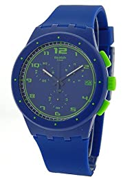 Swatch Originals Blue Chronograph Royal Blue Silicone Unisex Watch SUSN400