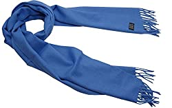 100% Cashmere Scarf From Inner Mongolia in Blue - hcs-004