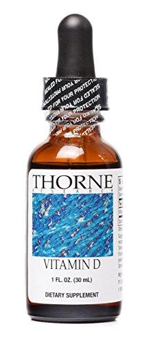 Thorne Research - Vitamin D Liquid Dietary Supplement - 1 fluid ounce (30 mL) (Liquid Vitamin D compare prices)