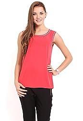 Femenino Fuchsia Coloured Embellished Top
