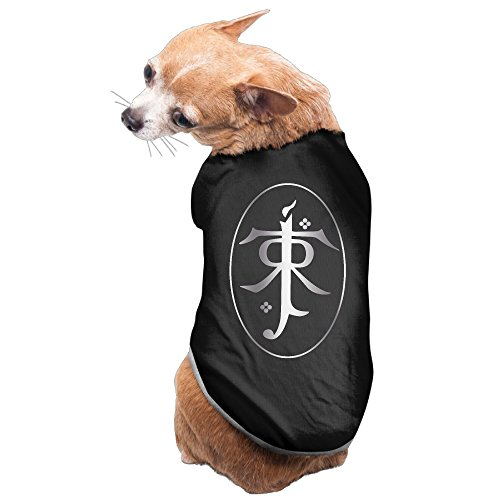 [Black Lord Of The Rings Tolkien Platinum Style Pet Dog T-shirt Coat] (Pippin Hobbit Costumes)
