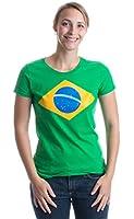 BRAZIL NATIONAL FLAG Ladies' T-shirt / Bandeira do Brasil, Brazilian Tee
