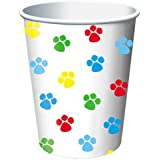 Creative Converting Paw-Ty Time Hot or Cold Beverage Cups, 8-Count