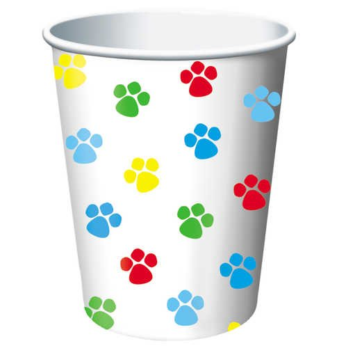 Best Buy! Creative Converting Paw-Ty Time Hot or Cold Beverage Cups, 8-Count