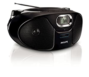 Philips AZ 382 CD-Radiorekorder (MP3-CD, USB) schwarz