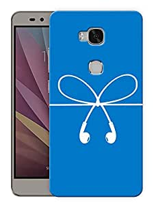 "Humor Gang Headphones Music Minimal Printed Designer Mobile Back Cover For ""Huawei Honor 5X"" (3D, Matte, Premium Quality Snap On Case)"