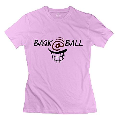 Cheap No Minimum Personalised Custom Women'S Baskball T-Shirts Size L Pink