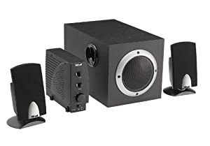 Trust SPEAKERS SOUNDFORCE 1600P 2.1 - Altavoces (20 - 20.000 Hz, Stereo, Audio cable (3.5mm stereo - 3.5mm stereo) Extra cables to connect to gaming consoles, 1600 W, 186 x 310 x 183 mm, 2.1)