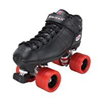 Riedell R3 Size 9 Roller Derby Skate Black with Red Wheels