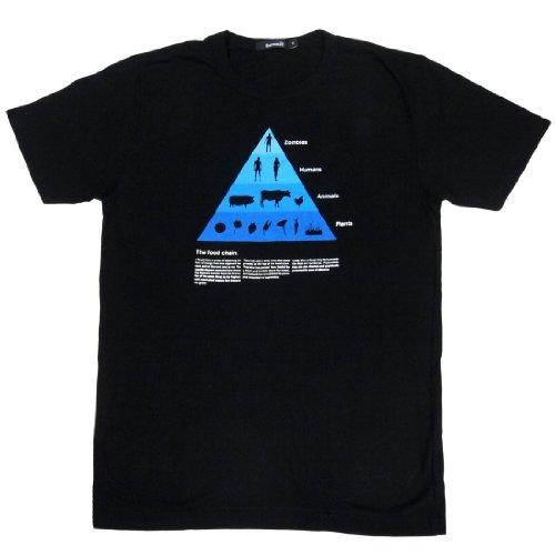 ジョークTシャツ 食物連鎖 (Mサイズ)