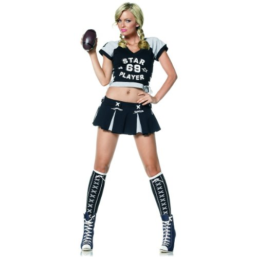 Star Player - Women's Sexy Football Player Costume Lingerie Outfit
