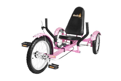 Mobo Triton Ultimate Three Wheeled Cruiser, Pink, 16-Inch