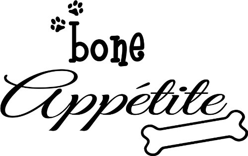 Bone Appetite Cute Puppy Dog Wall Art Wall Sayings Quotes front-482858