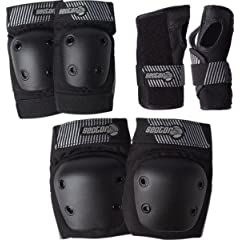 Buy Sector 9 Pursuit Black Knee & Elbow Skateboard Pads by Sector 9