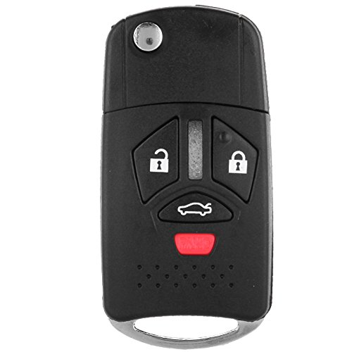 ECCPP Uncut Replacement Remote Key Case Shell For MITSUBISHI LEFT GROOVE 4Buttons Pad (Mitsubishi Lancer Key Shell compare prices)