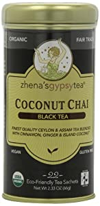 Zhena's Gypsy Tea, Coconut Chai, 22 Count Tea Sachets (Pack of 6)