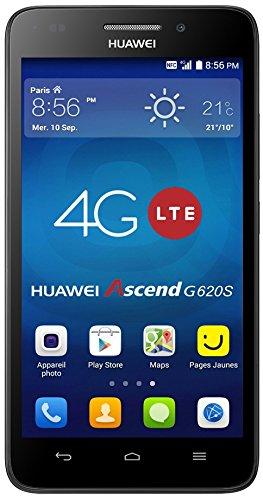 Huawei Ascend G620S Smartphone débloqué 4G (Ecran: 5 pouces HD – 8 Go – Simple SIM – Android 4.4 KitKat) Noir