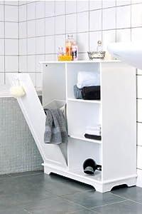 mq badregal badezimmerschrank badschrank w schekorb mdf. Black Bedroom Furniture Sets. Home Design Ideas