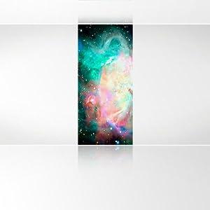 LanaKK  Sternennebel Bunt  Fototapete PosterTapete  edler Kunstdruck auf Vliestapete in 120x270 cm  BaumarktKritiken und weitere Informationen