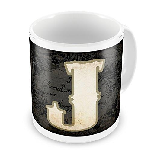 Coffee Mug Characters, Letter J Wildwestblack - Neonblond