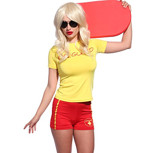 80s 90s Life Guard Rescue Fancy Costume, S, M, XL