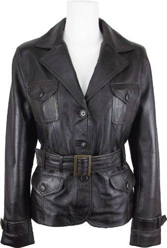 UNICORN Womens Fashion Leather Jacket Made With Brown Soft Touch Leather #EH (10)