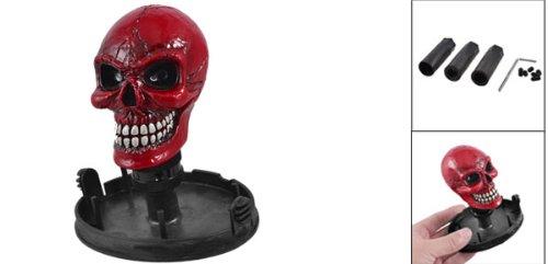Universal Red Skull Head Car Gear Shift Knob momo anatomic short black leather gear shifter shift knob
