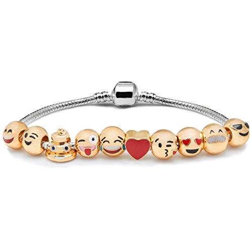 vivo-c-ladies-3d-emoji-fun-face-charms-bracelet-funny-18k-gold-plated-gift-bag-luxury-10-emoji