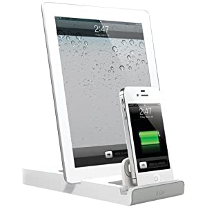 chargeur iluv dual dock pour ipad doubleuptm iphone ipod high tech. Black Bedroom Furniture Sets. Home Design Ideas