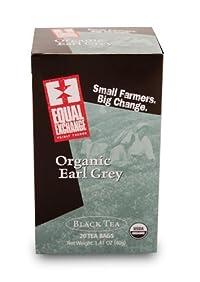 Equal Exchange Organic Earl Grey Tea - 20 bags per pack -- 6 packs per case.