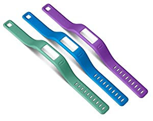 Garmin Large Coloured Wrist Band for Vivofit - Purple/Teal/Blue