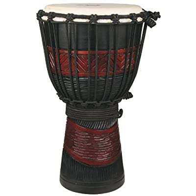 X8 Drums Red and Black Backpacker Djembe Drum