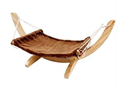 猫 ハンモック 木製 キャット ベッド (ココア) [並行輸入品]