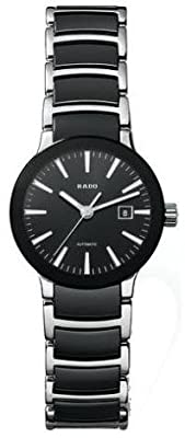 Rado Women's R30942152 Quartz Stainless Steel Black Dial Watch