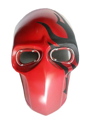 New Unique Handmade Paintball Airsoft BB Gun Mask RED Black Army PROTECTIVE GEAR OUTDOOR SPORT And Fancy Party Ghost Masks.