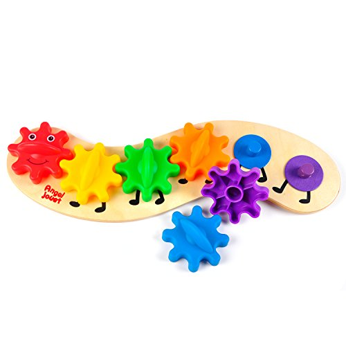 aGreatLife-Rainbow-Caterpillar-Gear-Toy-Best-for-Babies-and-Toddlers-With-6-Interchangeable-and-Brightly-Colored-Gears