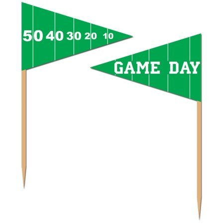 50-Pack Game Day Football Picks for Parties, 2-1/2-Inch by The Beistle Company