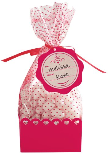 Martha Stewart Crafts Valentines Day Mini Cello And Tray Bags