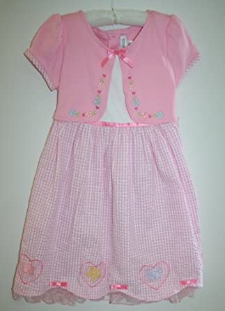 Youngland Girl's Pink Checkered Dress (6)