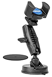 Arkon TW Broadcaster Single Phone Desk or Countertop Mount for Live Streaming Broadcasting Retail Black